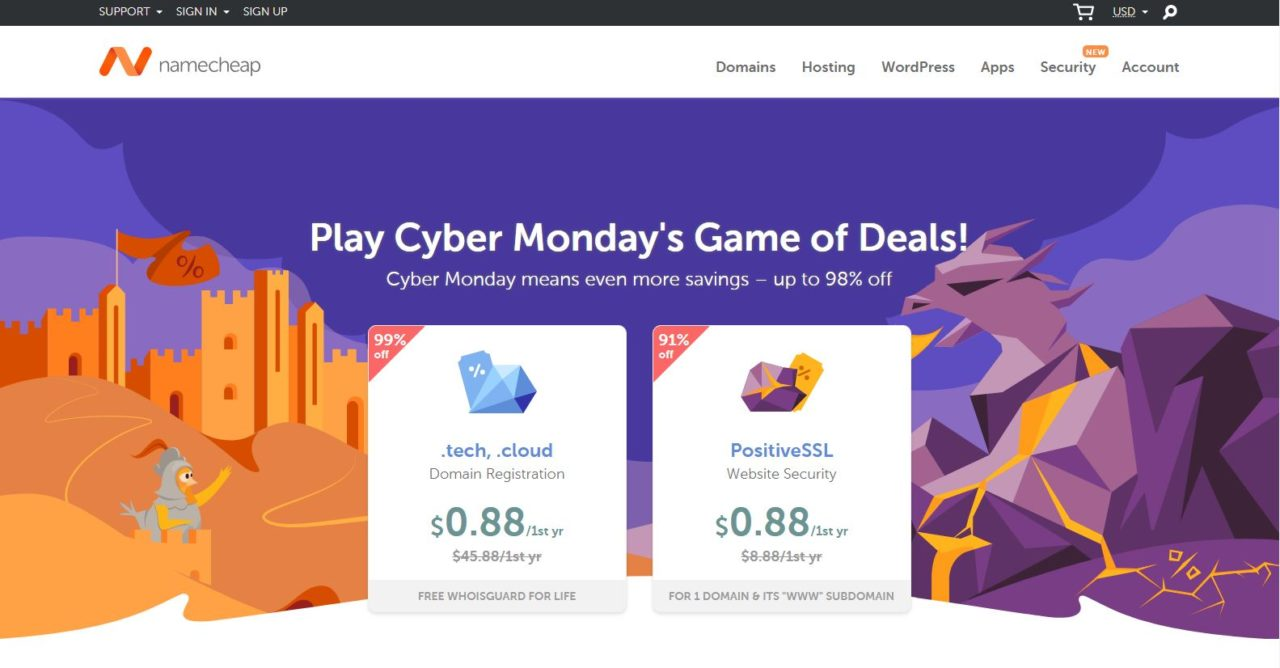 Photo of Rayakan Cyber Monday, NameCheap Diskon Hingga 98%