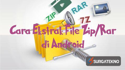 cara ekstrak file zip-rar di android