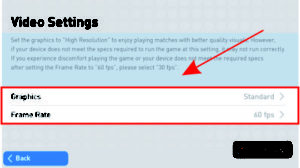 mengatur kualitas grafik game pes 2019 mobile