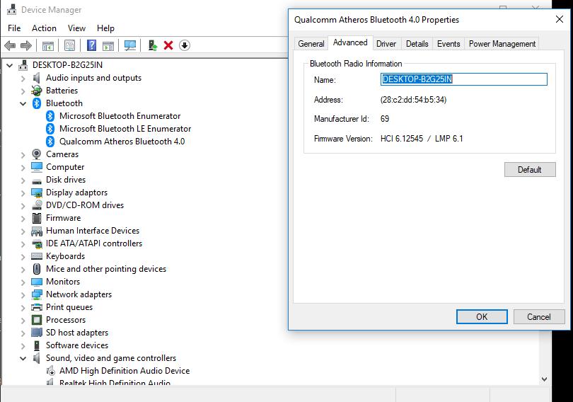 cara mencari nama bluetooth di pc atau laptop