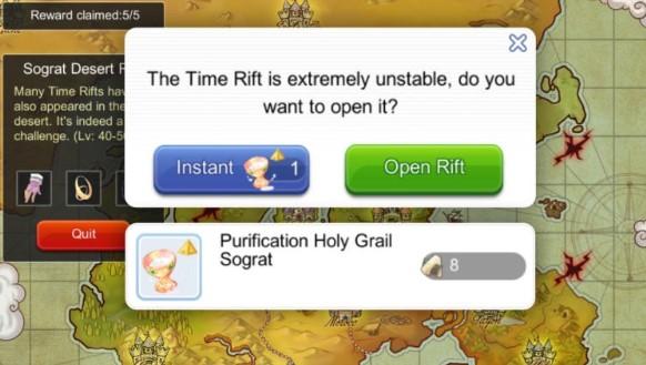 holy grails untuk instants rifts