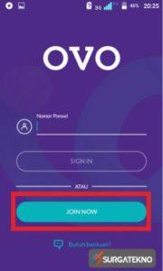 klik join now aplikasi ovo