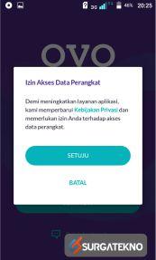 permintaan akses data dari ovo