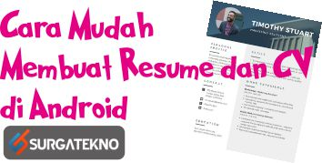 Photo of Tips Mudah Membuat CV Menarik di Android