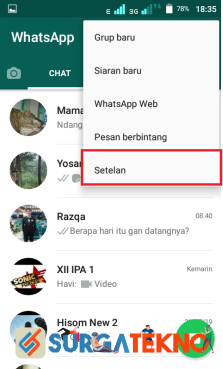 langkah 2 - cara menyembunyikan status online whatsapp