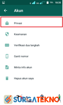 langkah 4 - cara menyembunyikan status online whatsapp