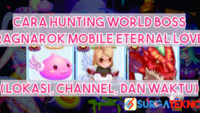 cara hunting world boss ragnarok mobile
