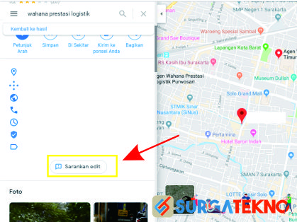 klik menu sarankan edit google maps