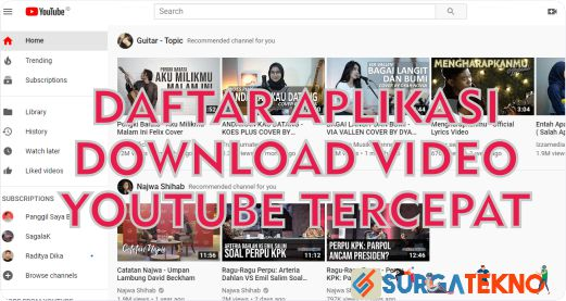 daftar aplikasi download video youtube tercepat