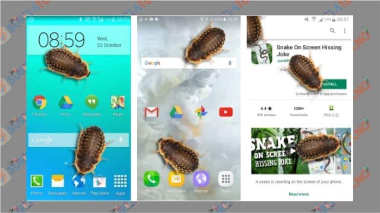 Lelucon Kecoak di Ponsel - Android