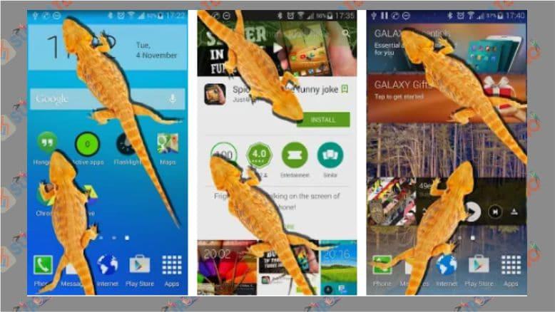 Lelucon Lucu Kadal di Ponsel - Android