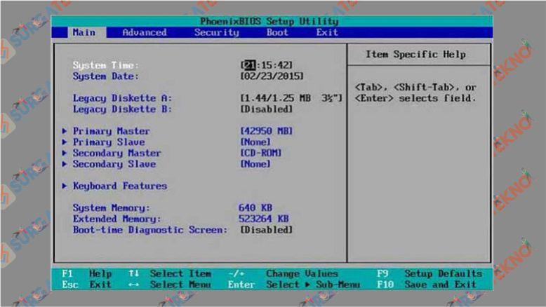 Mengatur booting di BIOS sebelum installasi Windows 10