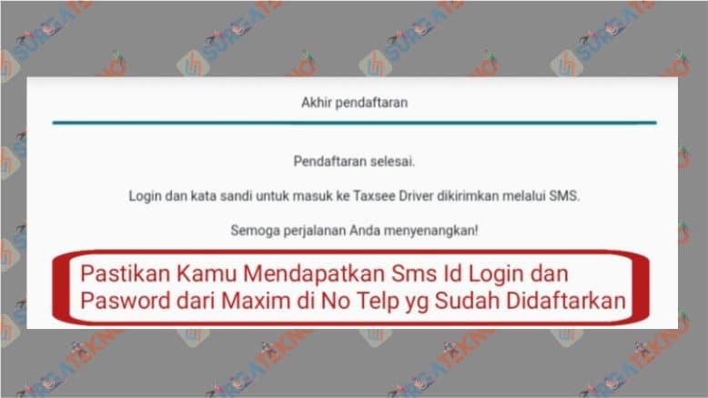 Pendaftaran driver Maxim sudah selesai