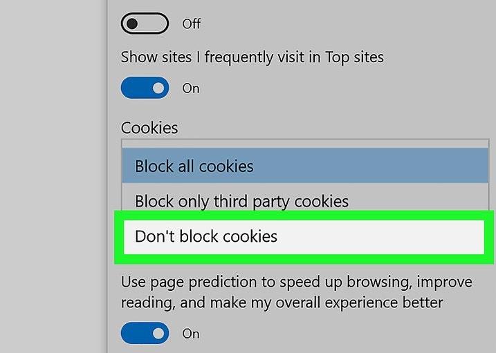Tampilan Cookies Pada Browser