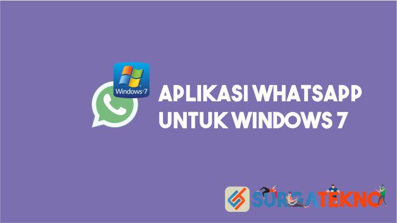 Aplikasi WhatsApp untuk Windows 7 64-bit