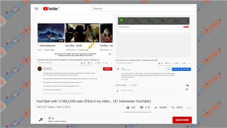 Channel JT Youtube