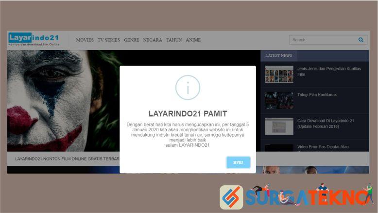 LayarIndo21 ditutup