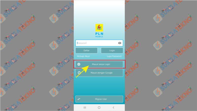 Menu utama PLN Mobile Android