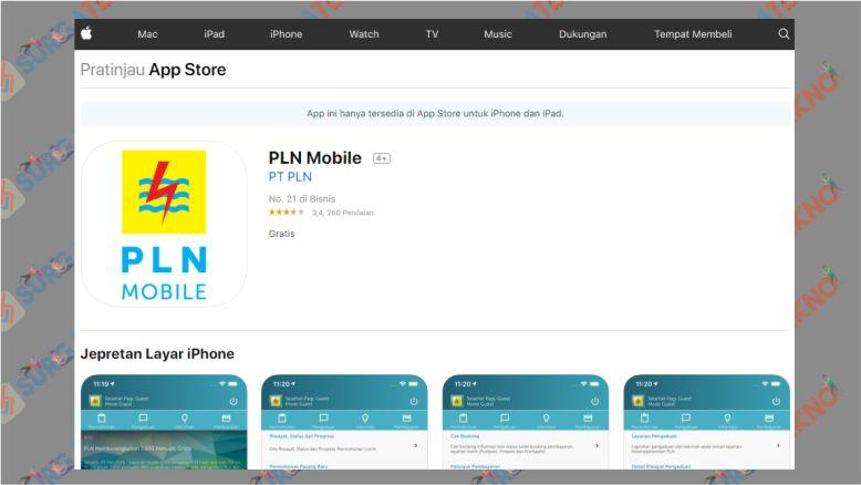 PLN Mobile di iOS