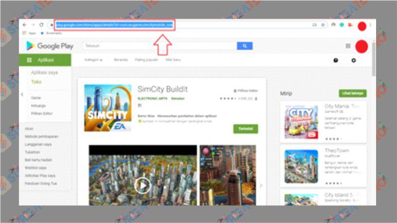 Salin URL Aplikasi Android yang Ingin Diunduh