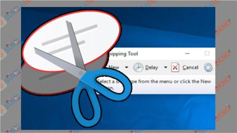 Screenshot di Laptop Acer dengan Snipping Tool