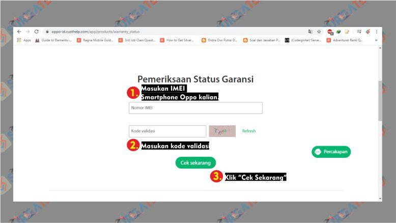 Cek Garansi Oppo lewat Website Oppo