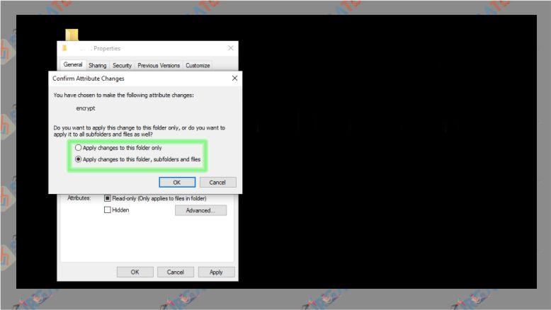Klik Apply untuk Mulai Mengunci Folder di Windows