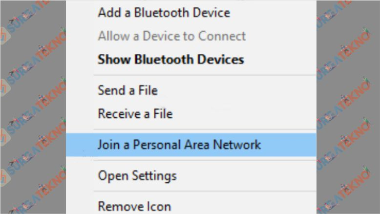 Klik Join a Personal Area Network