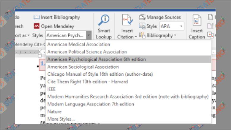 Pilih Style Bibliografi