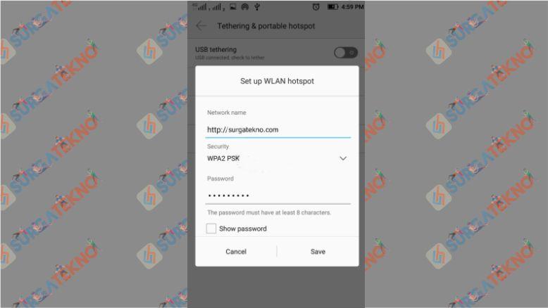 Setup WLAN Hotspot Android