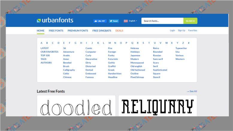 Situs Download Font - UrbanFonts