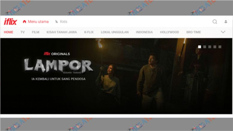 Tampilan Website Iflix