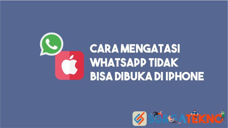 Cara Mengatasi WhatsApp Tidak Bisa Dibuka di iPhone
