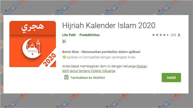 Hijriah Kalender Islam 2020