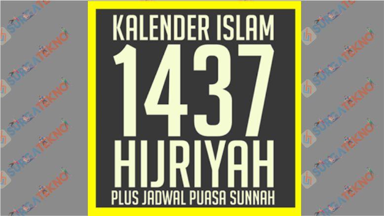 Kalender Islam 1437 Hijriyah Plus Jadwal Puasa Sunnah