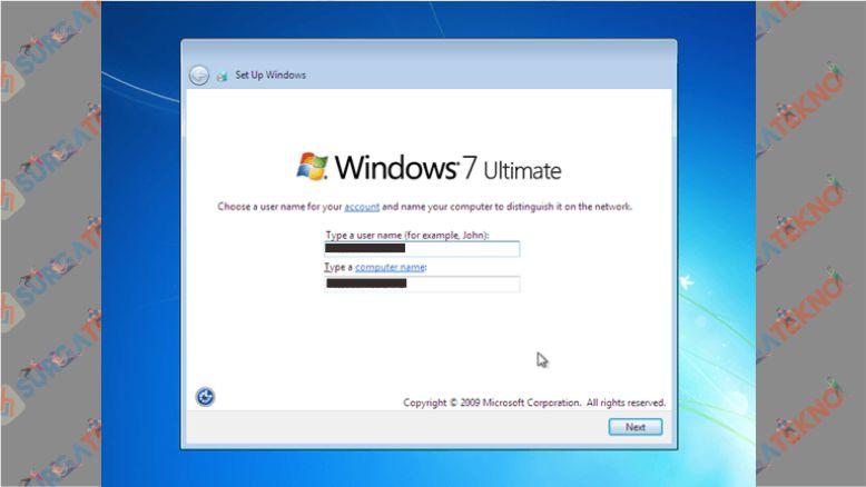 Masukkan Username dan Nama PC untuk Windows 7 Kalian