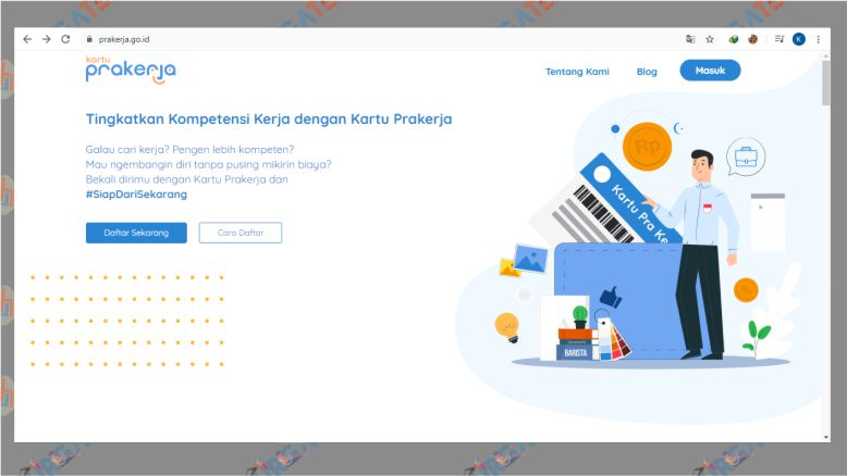 Tampilan Situs PraKerja