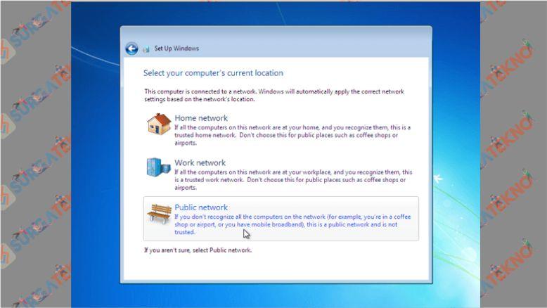 Tentukan Lokasi Jaringan Windows 7 yang Digunakan