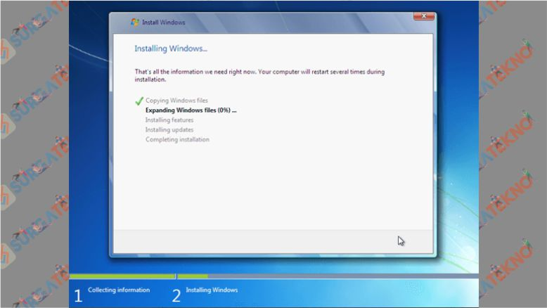 Tunggu Proses Installasi Windows 7 Selesai