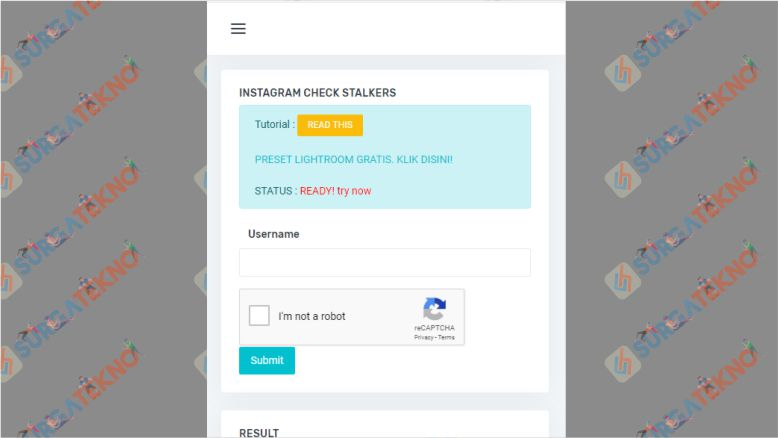 Website untuk Cek Stalker Instagram
