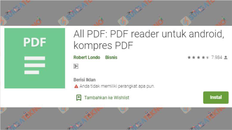 Aplikasi All PDF PDF reader untuk android, kompres PDF