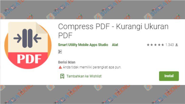 Aplikasi Compress PDF - Kurangi Ukuran PDF