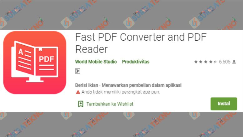 Aplikasi Fast PDF Converter and PDF Reader