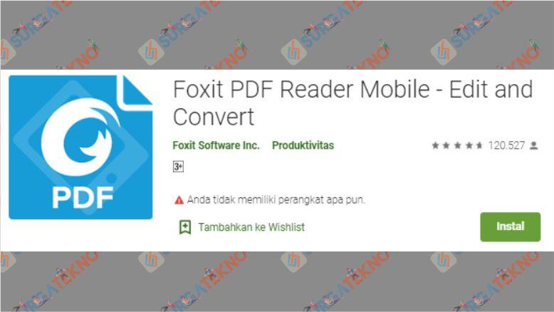 Aplikasi Foxit PDF Reader Mobile - Edit and Convert