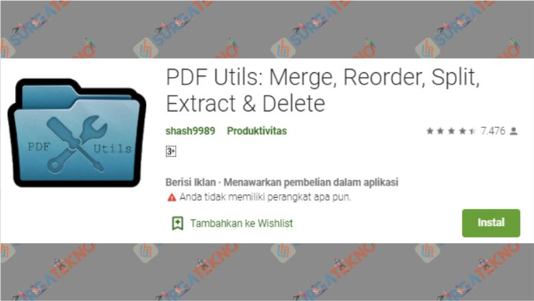 Aplikasi PDF Utils Merge, Reorder, Split, Extract & Delete