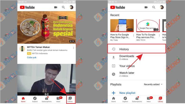 Buka Library - Cara Menghapus History Tontonan Youtube