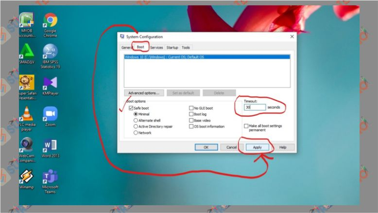 Cara Masuk Safe Mode Windows 10 dengan System Configuration