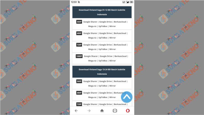 Pilih Server Tempat Download Anime dari Kusonime
