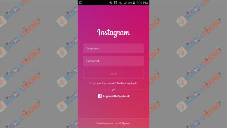 Sign in Instagram Sebelum Menghubugnkan dengan Facebook