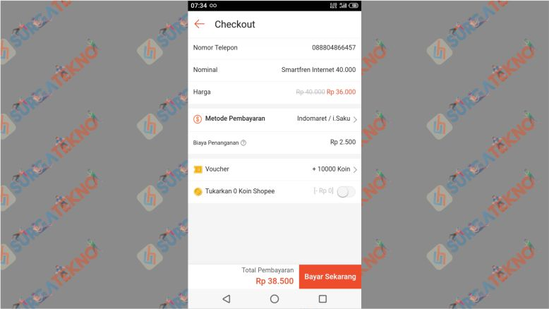 Silahkan Pilih Metode Pembayaran dan Lakukan Checkout